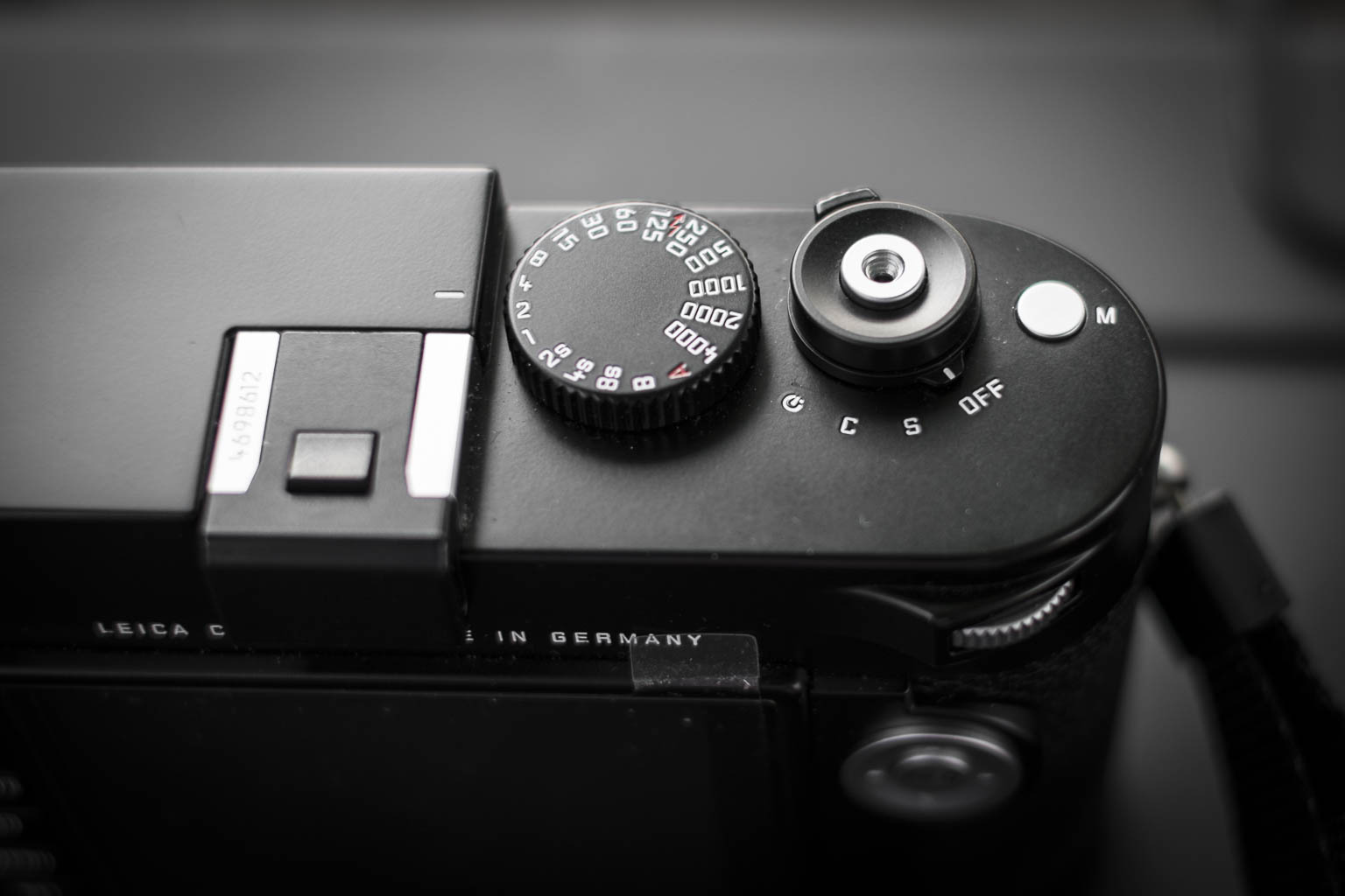 Leica M type 240 top view