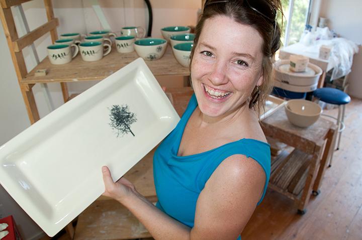 Erin Morris in her studio