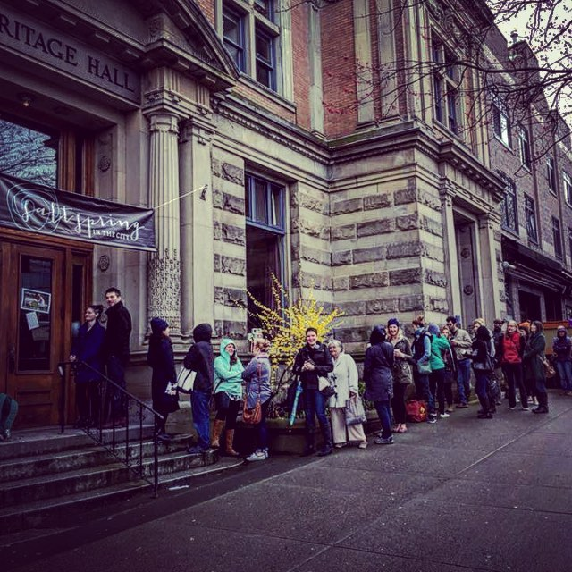 Last day, look at that lineup! Were you in it? Come on by, we'll be here till 4 pm today 😆✨💛 #vancity #vaneats #Vancouver #vancitybuzz #vancitybuzz #vancityeats #Vancouver #vancityhype #vancouverisawesome #igvancouver #igersvancouver #604now  #downtownnewwest #downtownvancouver #downtownvancouver #mainstreetvancouver #eastvancouver #ssinthecity #heritagehall