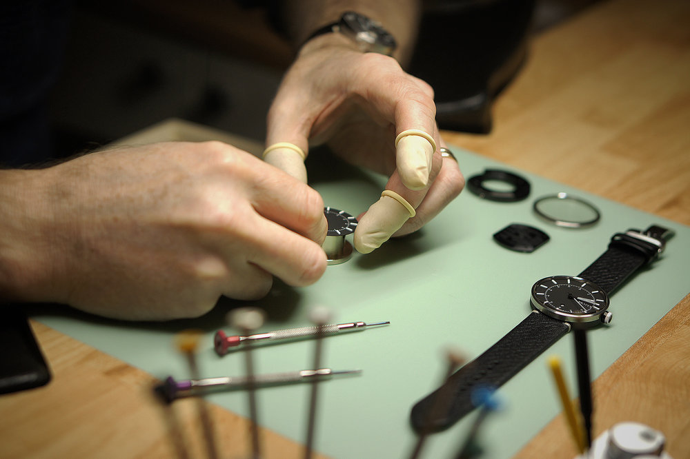 MATERIALS & PRODUCTION   Get a deeper knowledge about our watches and how they are produced