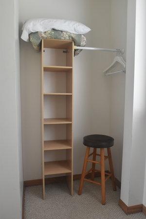 Lucky Horseshoe Cabin #21 - Interior Bedroom Closet.JPG