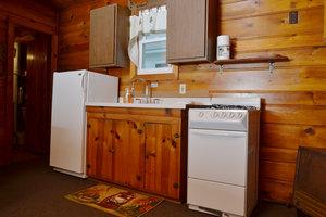 Lucky Horseshoe Cabin #19 - Interior Kitchen.JPG