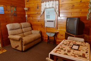 Lucky Horseshoe Cabin #19 - Interior Living Area.JPG