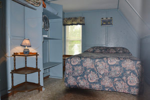 Lucky Horseshoe Cottage #16 - Interior Bedroom with Full Size Bed.JPG