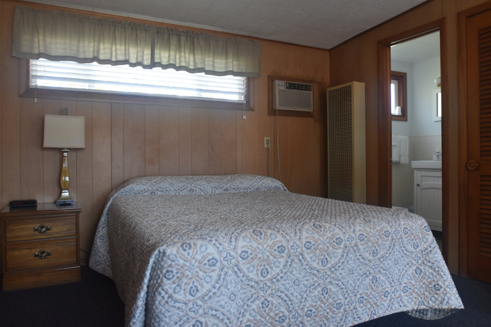 Blue Spruce Motel - Room Number 3 - Interior Queen Size Bed and Bathroom View.jpeg