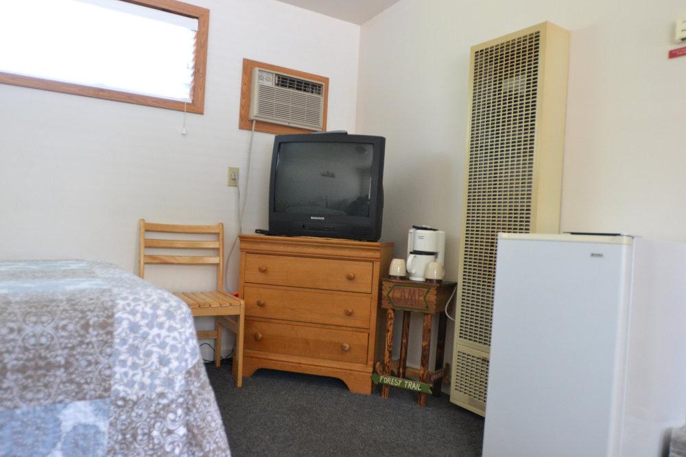 Blue Spruce Motel - Room Number 4 - Interior Fridge and TV.jpeg