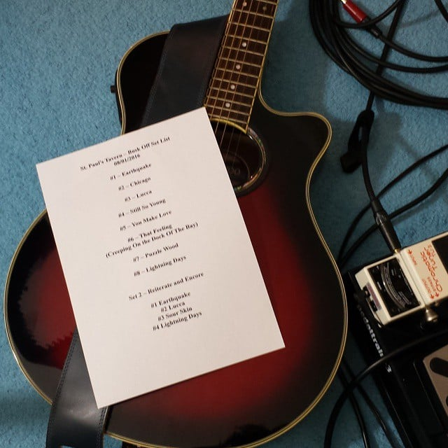 Set list for tonights gig! St Pauls Tavern in Cheltenham, come down its free entry!  #cheltenham #livemusic #gig #acousticguitar #songwriter #musician #singer #setlist #tobyellis #mod
