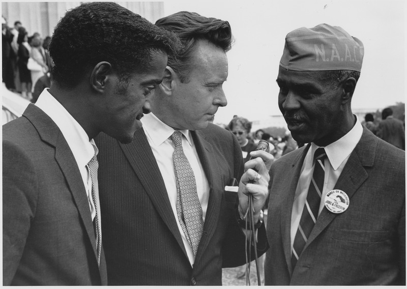 Sammy Davis, Jr and Roy Wilkins, NAACP ©Courtesy National Archives