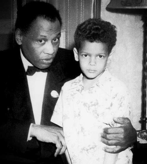 Paul Robeson and Julian Bond