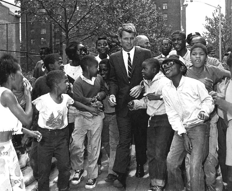 Robert Kennedy visiting Harlem