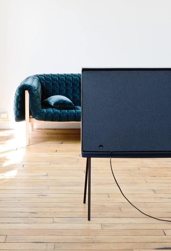 Elegant furniture form factor for a television.