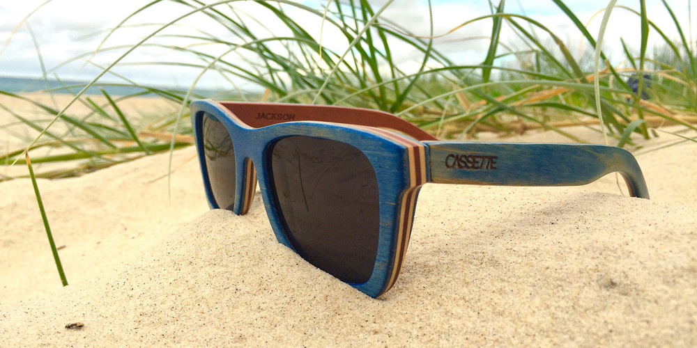 a5b305c437c One of our favorite designs and The Cassette Company s most popular wood  sunglasses. Made of real re-purposed skateboards