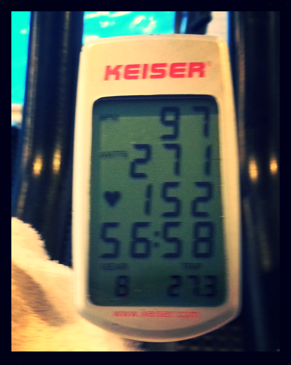 Workout summary - still holding onto hope that Polar will send me some Keo Power Pedals :-)