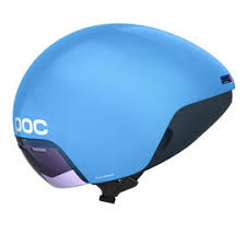 Aero helmets usually have less air vents, covers more of the head often the ears and sometimes has a visor. A large number of people will use an aero helmet during a triathlon but is not a necessity.