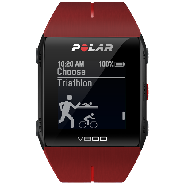 My personal recommendation is the Polar V800 for triathlon training and racing.