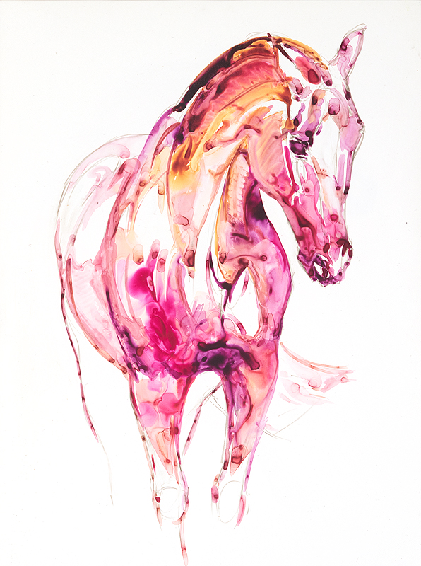 Horse in Garnet & Topaz #1