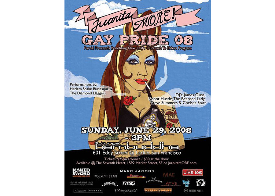 Juanita MORE! 2008 Pride Poster (illustration only)