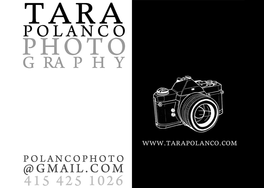 Tara Polanco Photography, Business card design