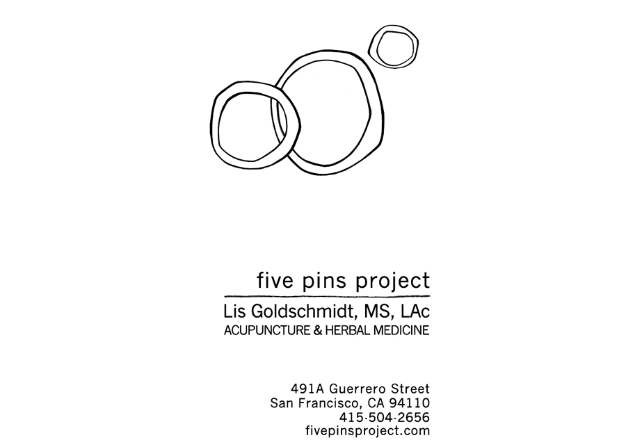 Five Pins Project, Logo and business card redesign