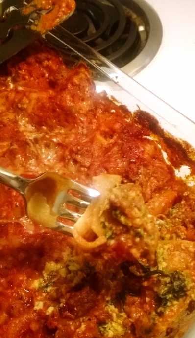 I couldn't wait for this lasagna to cool... who has time for that!?