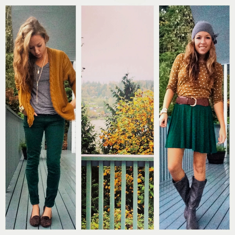 PNW Fall Colors outfits