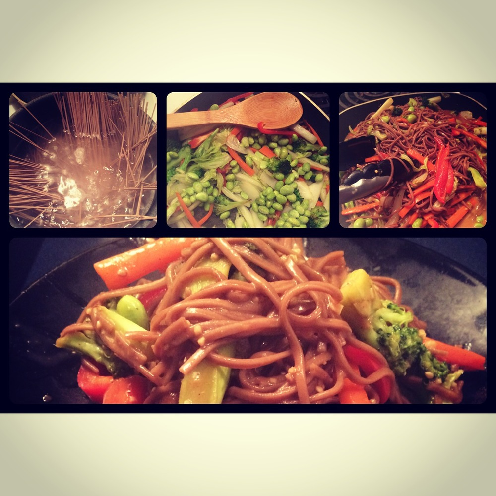 Buckwheat Soba Noodle and Veggie Stir Fry