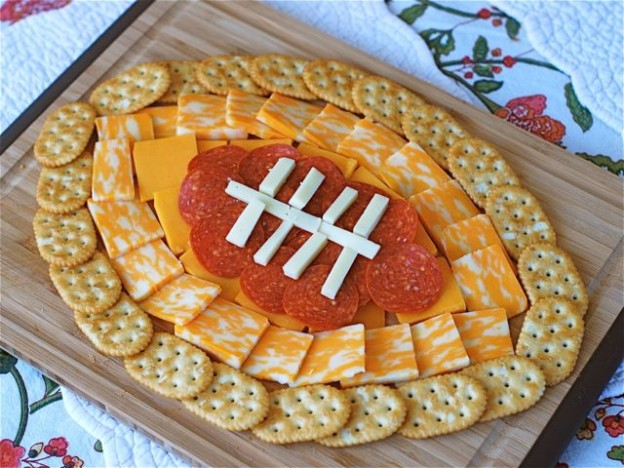 A football shaped cheese plate!! Cute AND simple. Love.