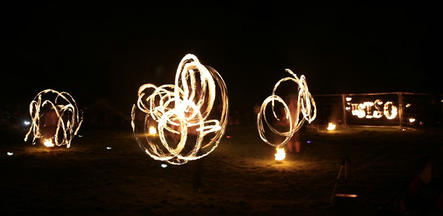 Panic fire show at JustSofestival