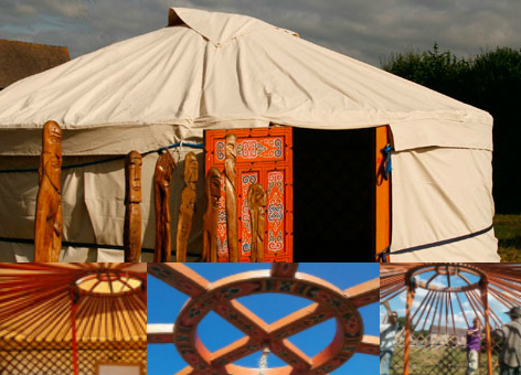 Panics Yurt at festival at the edge