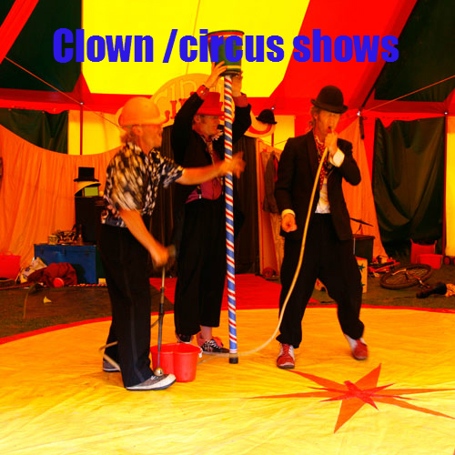 Panic circus clown shows