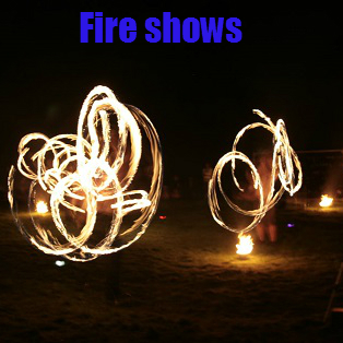 Panic circus fire shows and processions