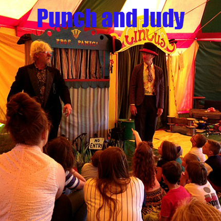 Panic circus Punch and Judy shows