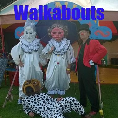 Panic circus walkabouts