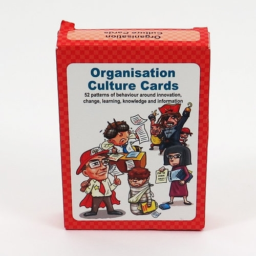 These Organisation Culture Cards map patterns of behavior in organizations related to change, learning, knowledge, and information.