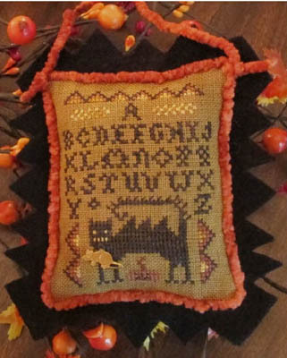 Wicked Cat Sampler Chart Cover image, copyright Homespun Elegance