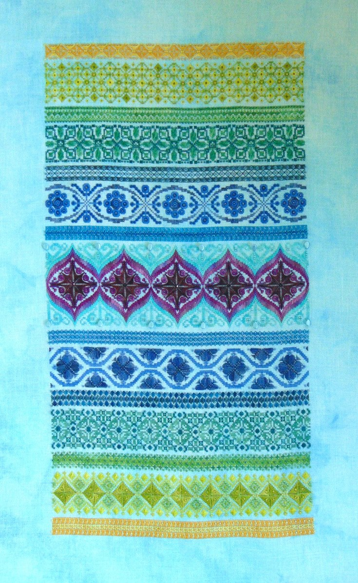 Peacock Band Sampler - Northern Expressions Needlework