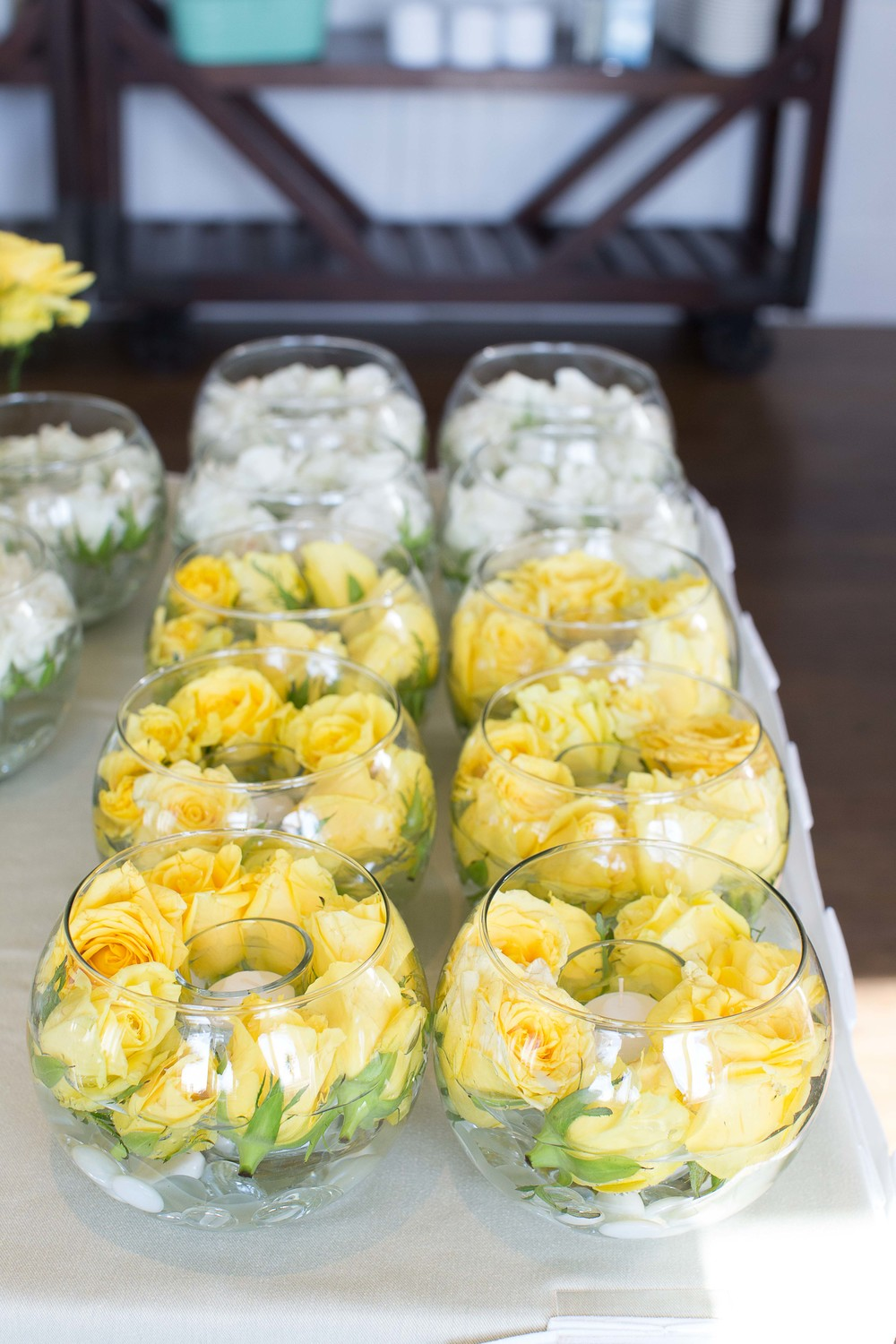 Yellow simple and classic wedding santa monica california ievent boutique wedding blog white and yellow are one of the classical schemes for wedding junglespirit Gallery