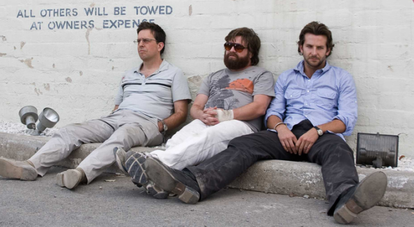 """The Hangover"" (2009)  When I fist saw this ""Treehead"" t-shirt worn by Zack Galifianakis I loved how tacky and awesome it was all at once. I thought It would become the next ""3 wolf moon""."