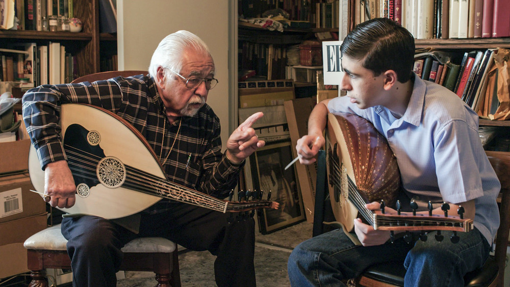 Richard Hagopian and Andrew Hagopian    Oud Master and His Grandson   Passing on an unwritten tradition to his grandson, a rare fifteen-year old who embraces this legacy wholeheartedly.