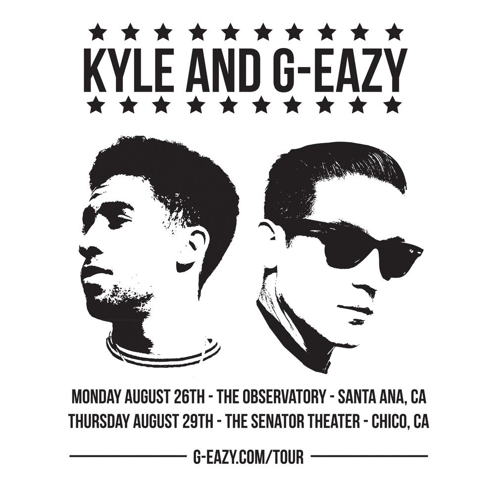 KYLE & G-Eazy Show Flyer