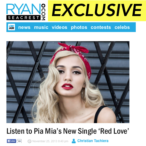 "Pia Mia ""Red Love"" Single Premiere"