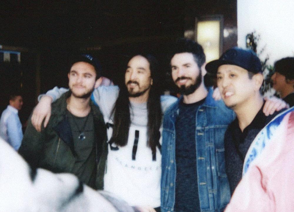 Zedd, Steve Aoki, Brad Delson + Joe Hahn