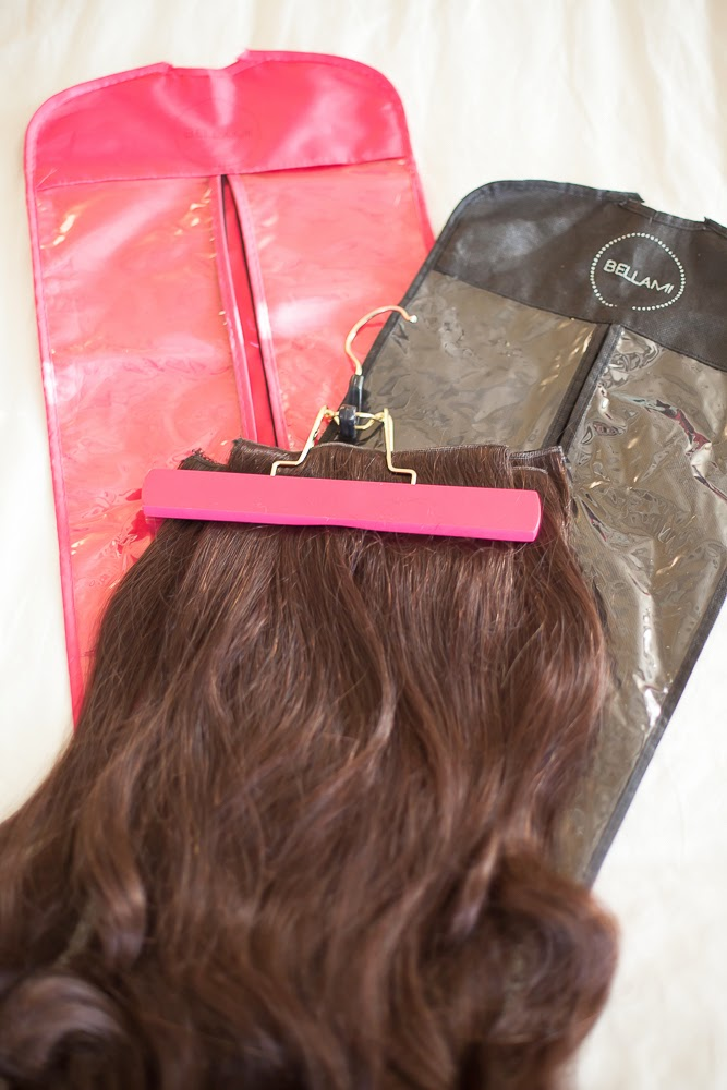 BELLAMI Hair Hanger and Carrier available in Pink &Black