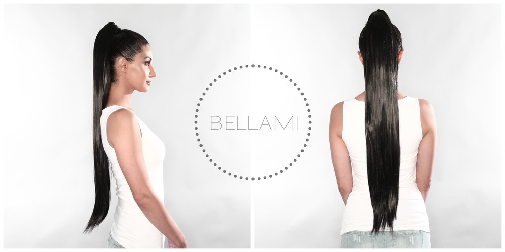 @zohrasadat is wearing our BELLAMI Jet Black Clip Pony 200G 28""