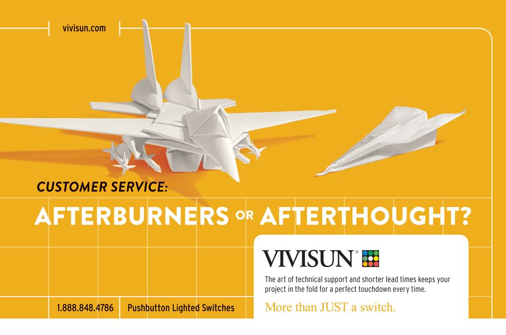 Vivisun Paper Jet Fighter Ad