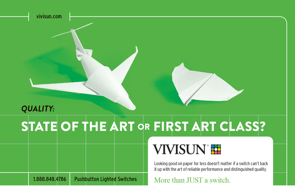 Vivisun Paper Private Jet Ad