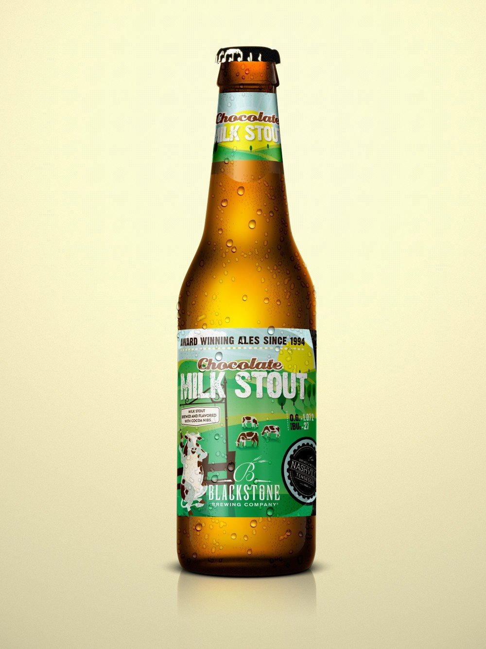 Blackstone Brewing Company Milk Stout Bottle Label