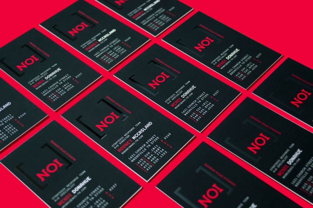 Nashville Office Interiors Business Cards
