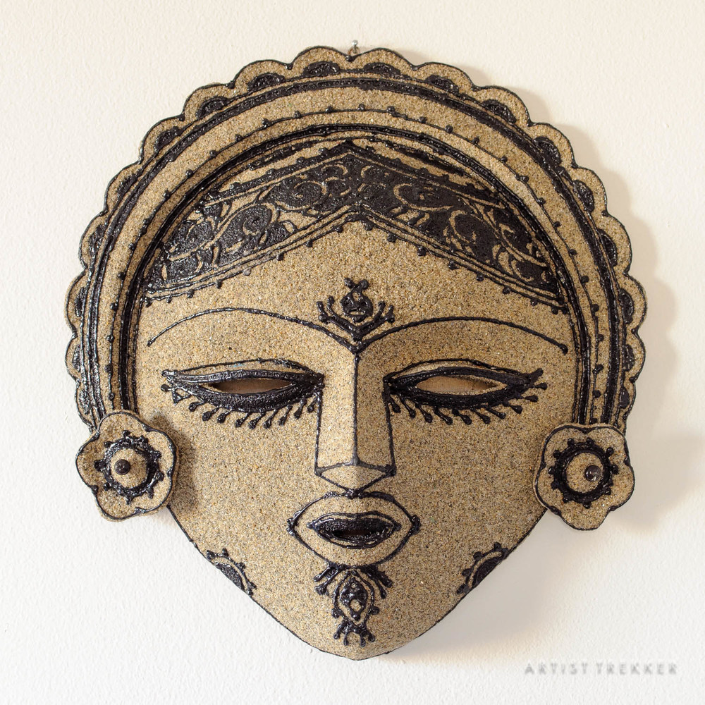 Artist: Saidul Haque Juise, Mask: Paper and sand  SOLD
