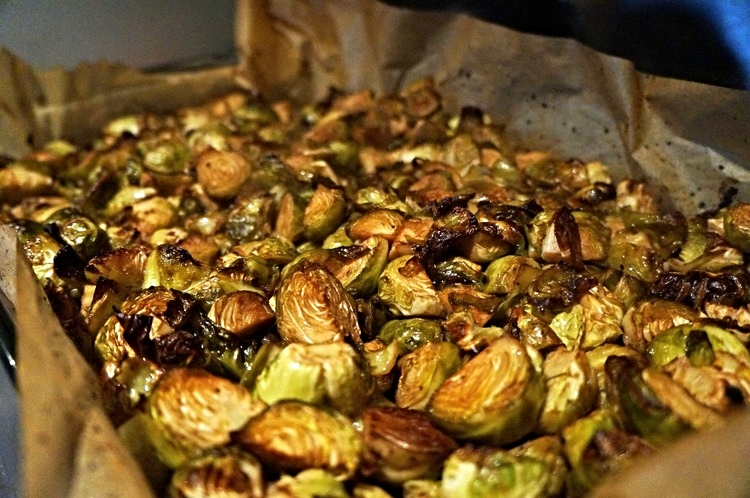 http://www.kitchentofeed.com/recipe/jenna-heller/roasted-balsamic-truffle-brussel-sprouts